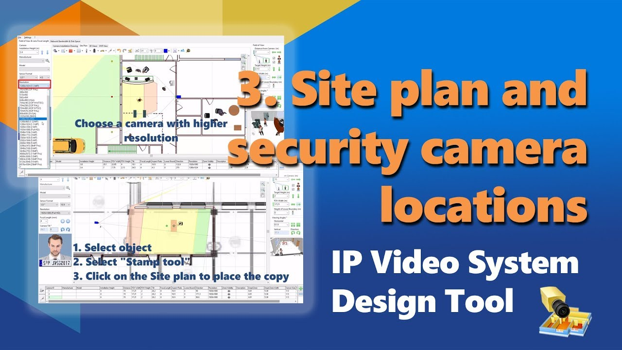 JVSG CCTV Design & Planning Software incl Hikvision Cameras