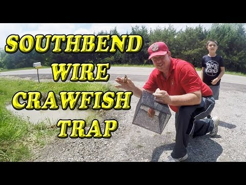 Southbend Wire Crawfish Trap Unboxing And Demonstration
