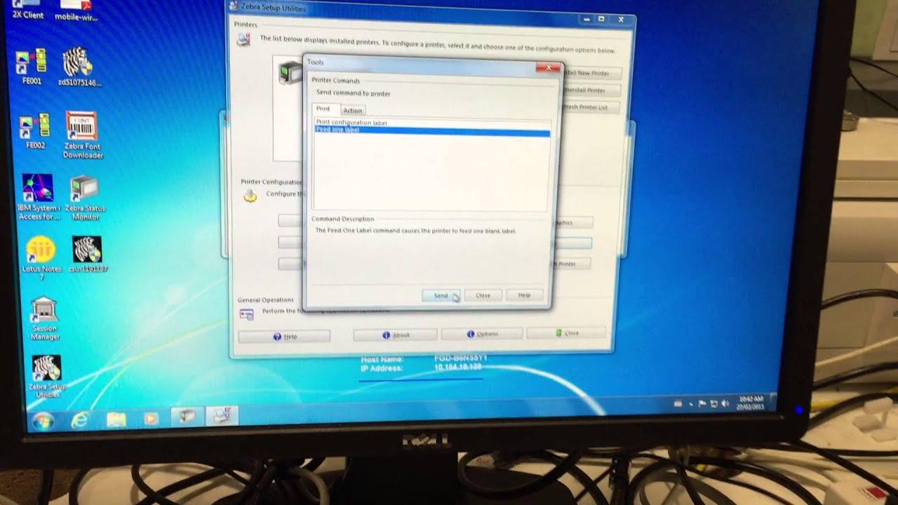 Zebra P4T Wireless Configuration issue