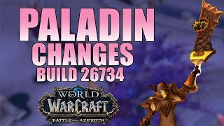 New Paladin Battle for Azeroth 26734 Class Changes and Updates thumbnail