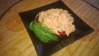 Вкусный  салат из свежей моркови с чесноком и зеленью