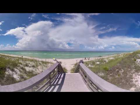 360° Beach Video: Beach Access Point of Inlet Beach in South Walton, FL
