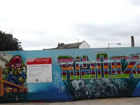 Graffiti Art Project Bethnal Green London Youtube