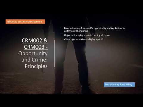 Opportunity Crime Principles - Crime Prevention Through Environmental Design
