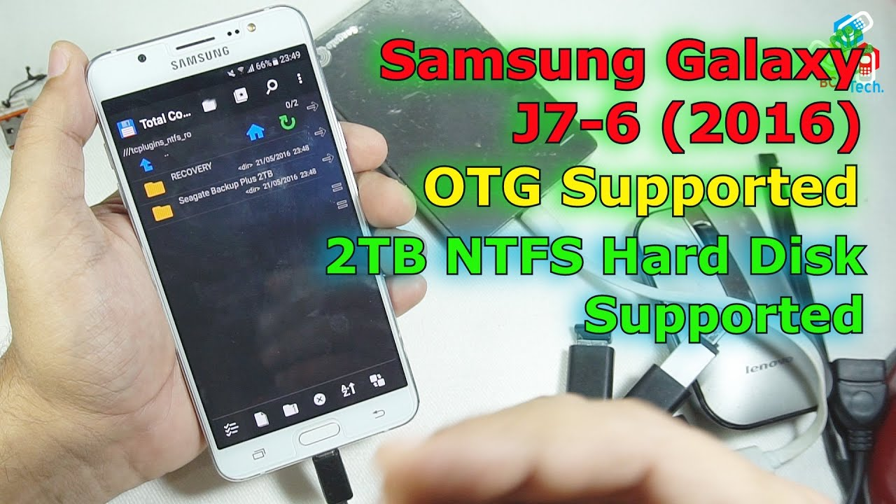 2tb Ntfs Hard Disk On Samsung Galaxy J7 6 2016 Otg Support Youtube Wd External Harddisk Elements 25ampquot 1 Tb
