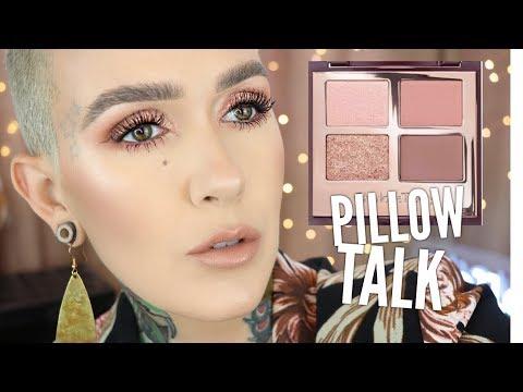 Charlotte Tilbury Pillow Talk Eyeshadow Palette Tutorial & Review
