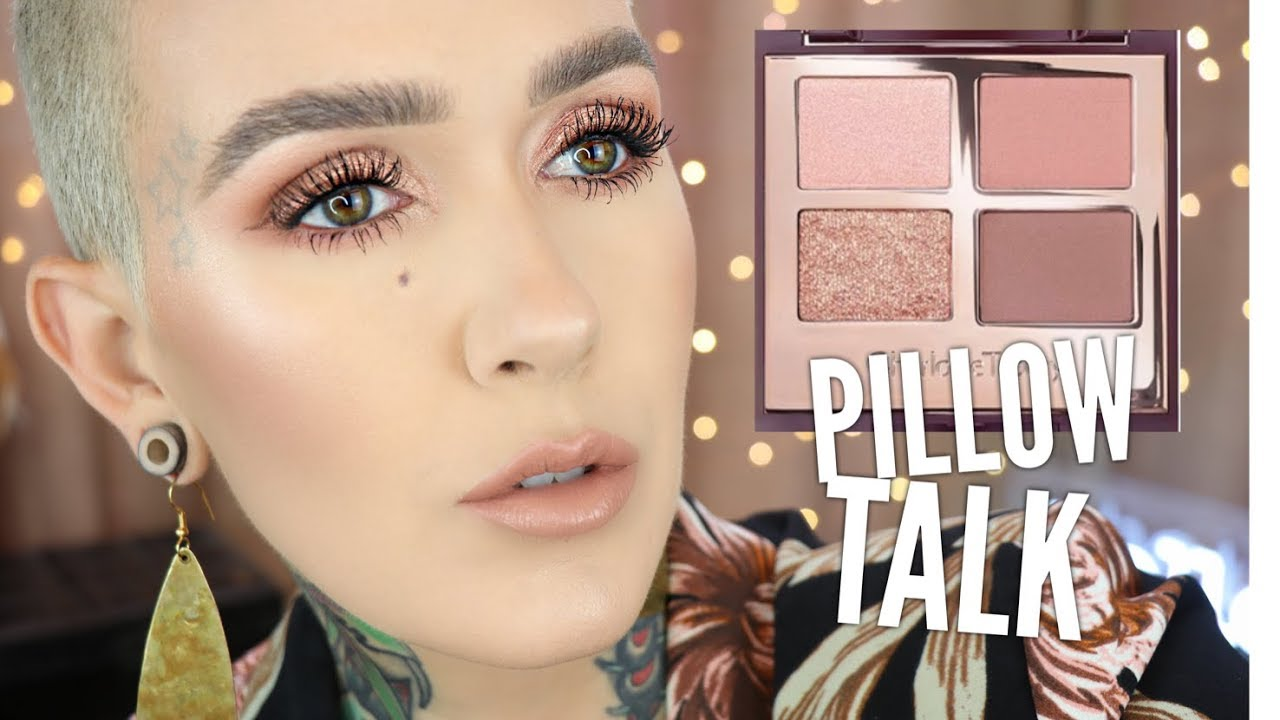 charlotte tilbury pillow talk eyeshadow palette tutorial review