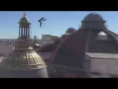 Crazy French girl jumps of buildings Parkour Jumping Music video