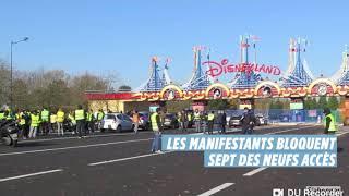 LE GILETS JAUNE BLOQUE DISNEYLAND À PARIS