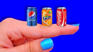 DIY Miniature Realistic Food and Drink (KFC, Pringles, Nutella, CocaCola, Fanta, Doritos, Snickers)