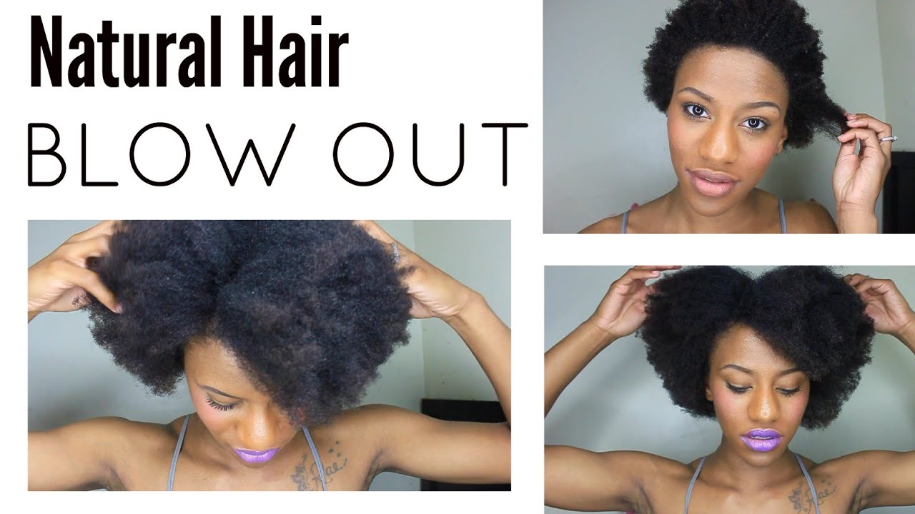 quick & easy blow out on short natural hair