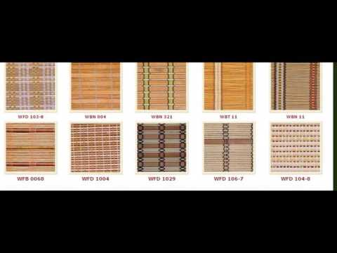 Bamboo cane blinds curtains