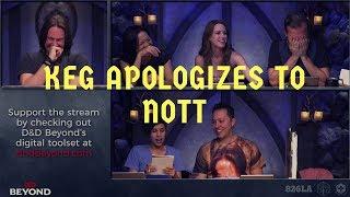 Keg Apologizes to Nott