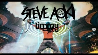 STEVE AOKI & TIMMY TRUMPET & JEFF?! - GANGSTAR (MUSIC VIDEO) PARTY ROCKZZ MASHUP