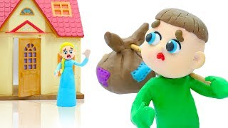 LUKA MOTHER CARE WHILE LEAVING HOME  Play Doh Stop Motion Cartoons