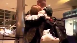 Soldier Surprise His Mom At Airport For Christmas