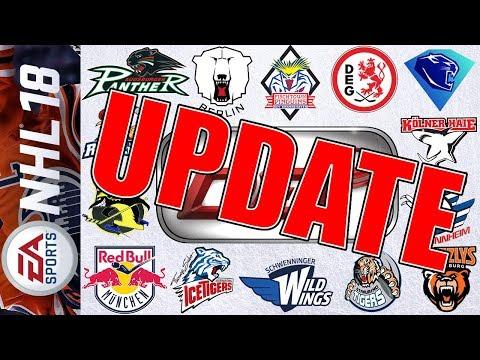 UPDATE! Alle DEL Teams, aktuelle Trikots und Spieler   NHL 18 #002
