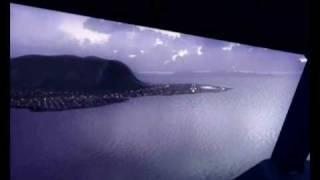FS2004 Palermo Punta Raisi Airbus a319 Alitalia landing....