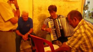 Deena Montillo playing accordion in Montepaone, Italy (Calabria) - video #2