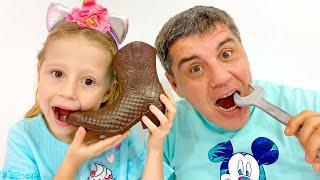 나스티아와아빠, 해로운 사탕과 과자에 대한 아이들을위한 이야기