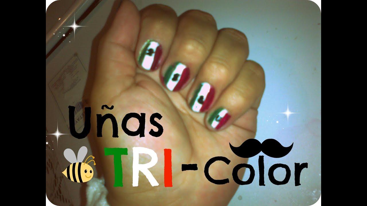 Uñas Tri Color ¡Viva México! - YouTube