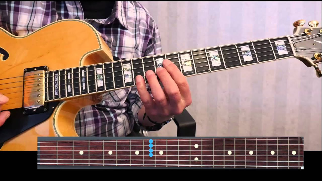 blue bossa chord melody with block chords update with loop