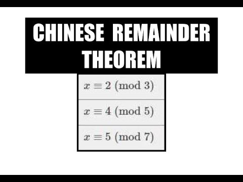 Chinese Remainder Theorem  | Cryptography And Network Security