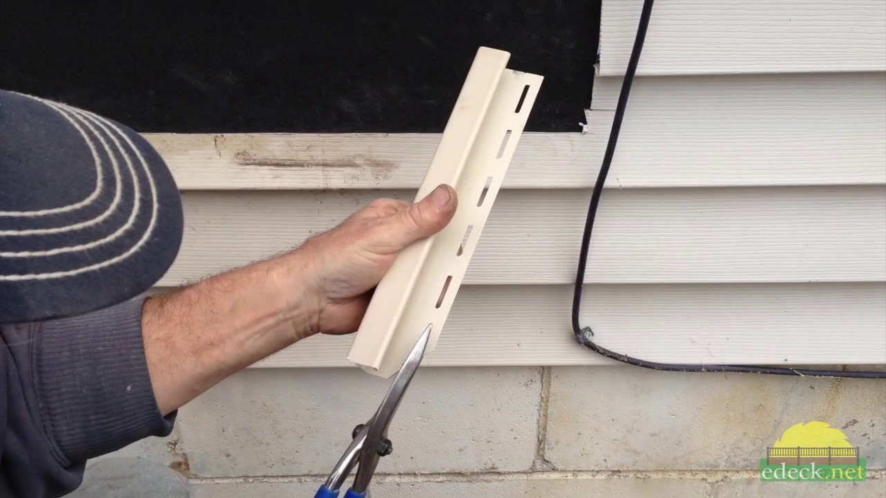 Installing Deck Ledger On Vinyl Siding Youtube