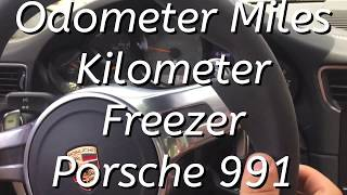 Odometer Miles Kilometer Freezer Porsche 991 STOP KM filter blocker