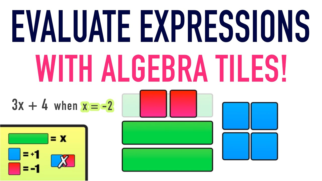 hight resolution of Evaluating Expressions Using Algebra Tiles! - YouTube