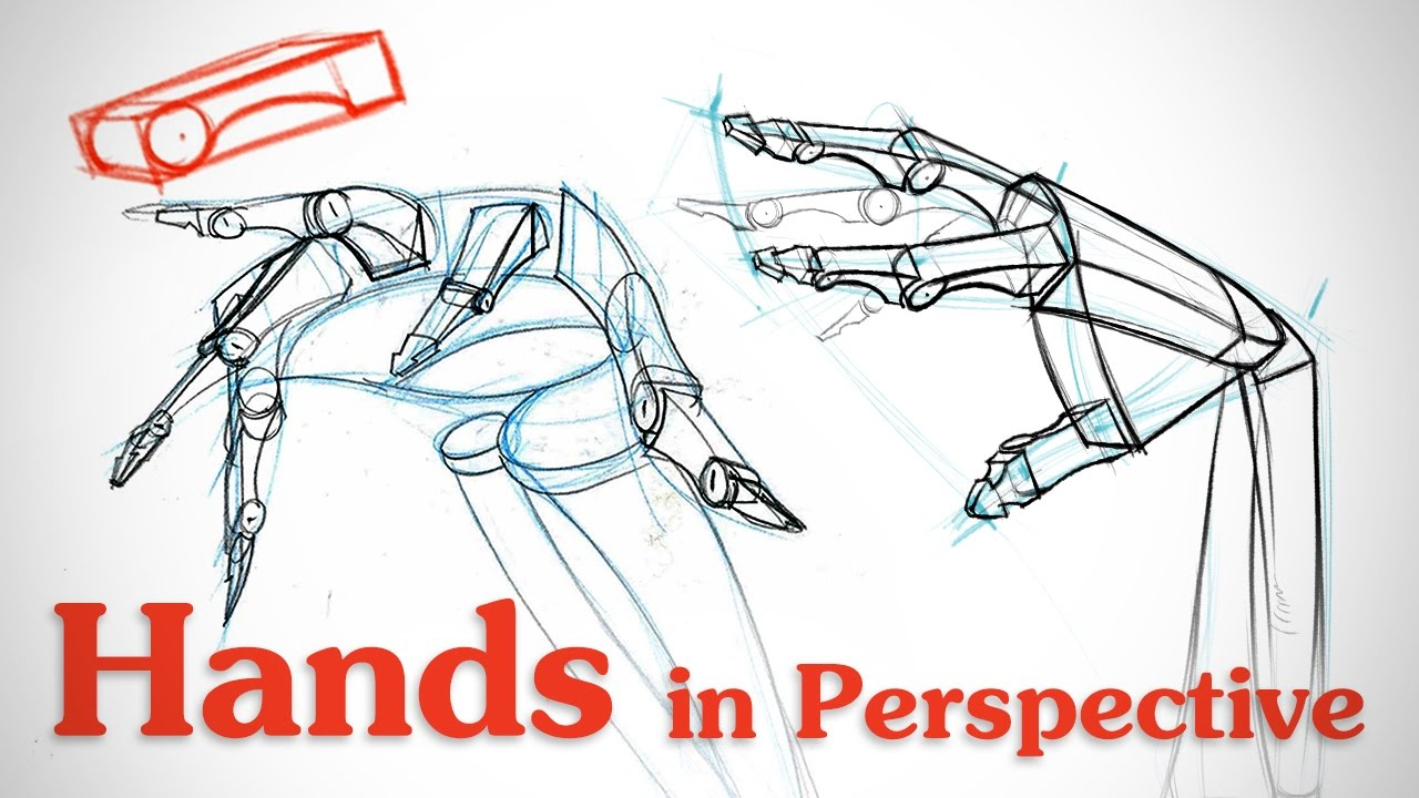 Drawing Hands In Perspective Hand Bone Critiques Youtube