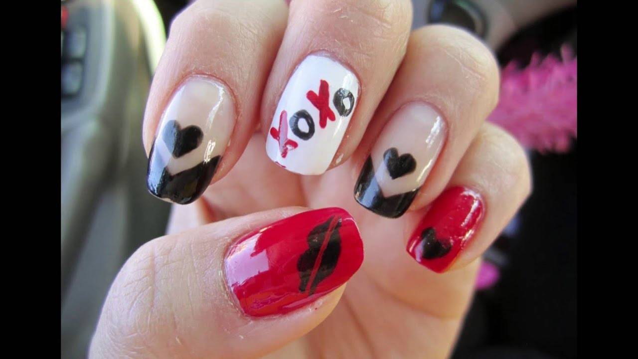Valentine Nail Art Nail Design Ideas For Valentines Day Youtube