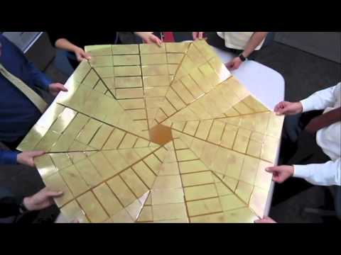 B-roll: Origami Solar Array Prototype