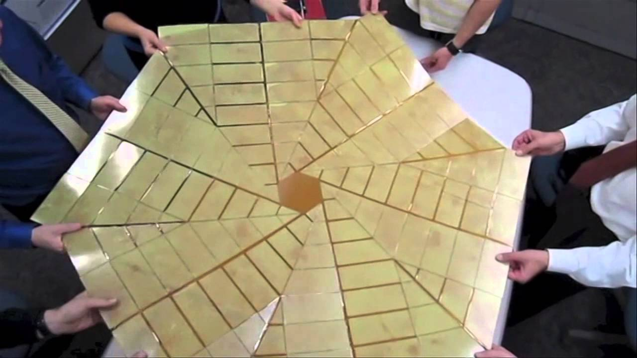 B Roll Origami Solar Array Prototype Youtube
