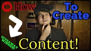 How To Become A Content Creator : How to Start Making Content In 2018!