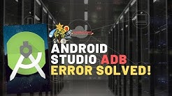Android Studio ADB version/output not detected Error Solved | Wondering Science