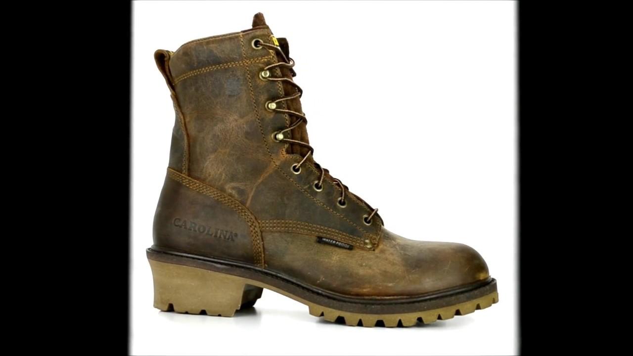 91d83f61419 Men's Carolina 8 Inch Steel Toe Waterproof Logger Work Boot CA9830 @ Steel  Toe Shoes com