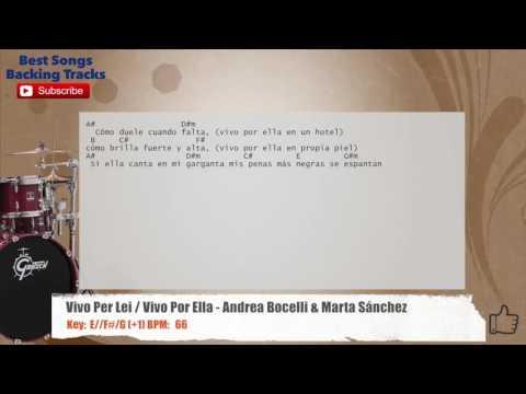 Vivo Per Lei / Vivo Por Ella - Andrea Bocelli & Marta Sánchez SPANISH Drums Backing Track
