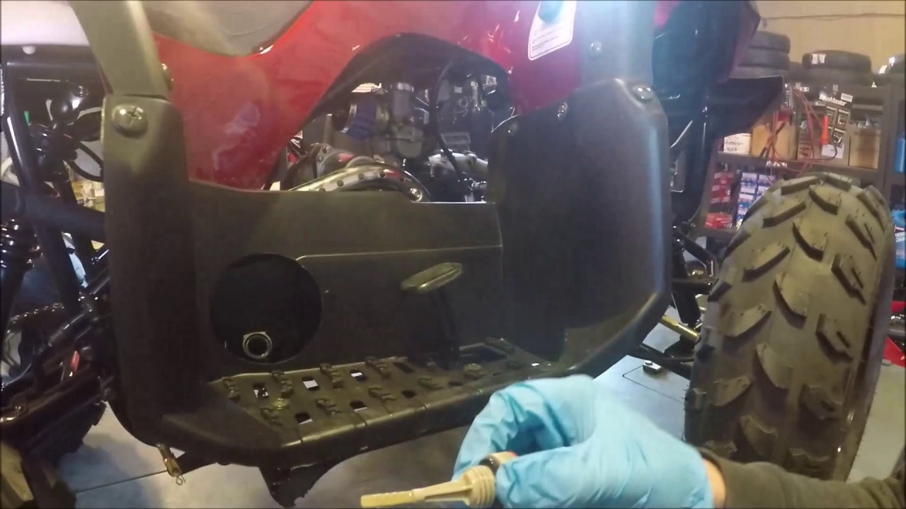 how to change my fuel filter spark plug on a chinese atv [ 1280 x 720 Pixel ]
