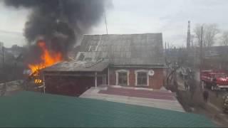 22.04.2017 Пожар на ул. Шевченко (Ижевск)