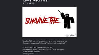 Roblox survive scp 087-B update