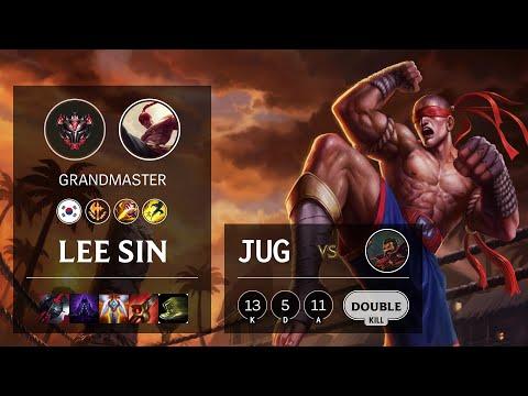 Lee Sin Jungle vs Graves - KR Grandmaster Patch 10.16
