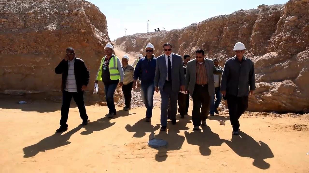 دكتور احمد عزيز رئيس جامعة سوهاج يتفقد الانشاءات الجديدة بمزرعة الجامعة ومبنى كلية الحقوق