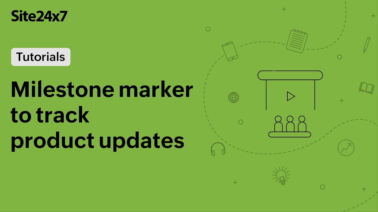 Track product updates with milestone marker