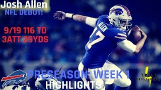 Josh Allen Preseason Week 1 Highlights | NFL Debut 08.09.2018