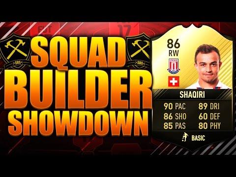 EPIC SIF SHAQIRI SQUAD BUILDER SHOWDOWN!! FIFA 17 ULTIMATE TEAM