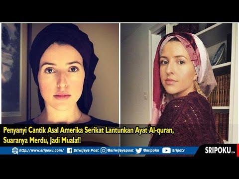 Penyanyi Cantik Asal Amerika Serikat Ini Lantunkan Ayat Suci Al Quran, Suaranya Merdu, Jadi Mualaf!