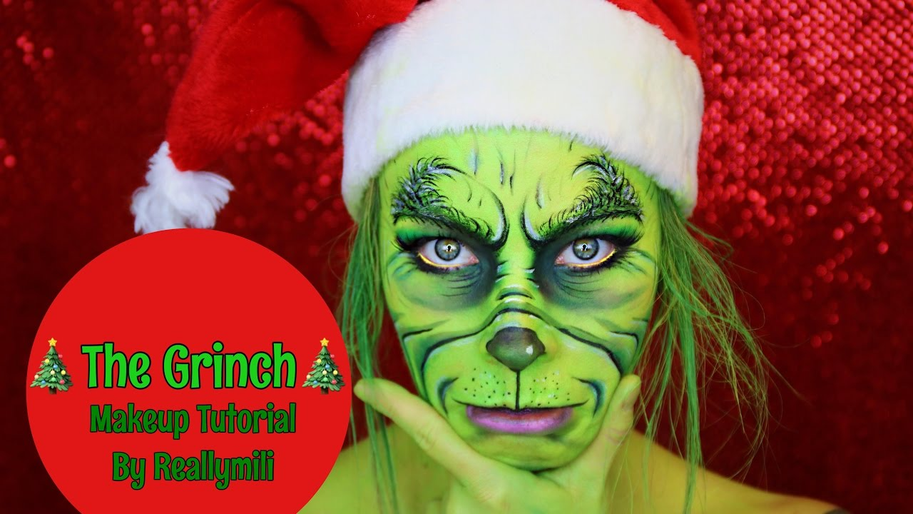 The Grinch Makeup Tutorial Merry Christmas From Reallymili You ...