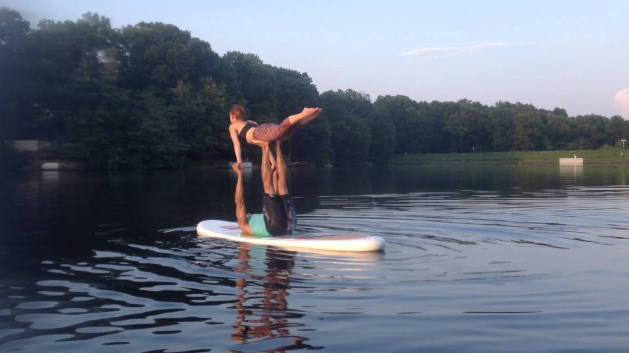 Paddle Board Sup Acro Yoga Lake Anne Reston Youtube
