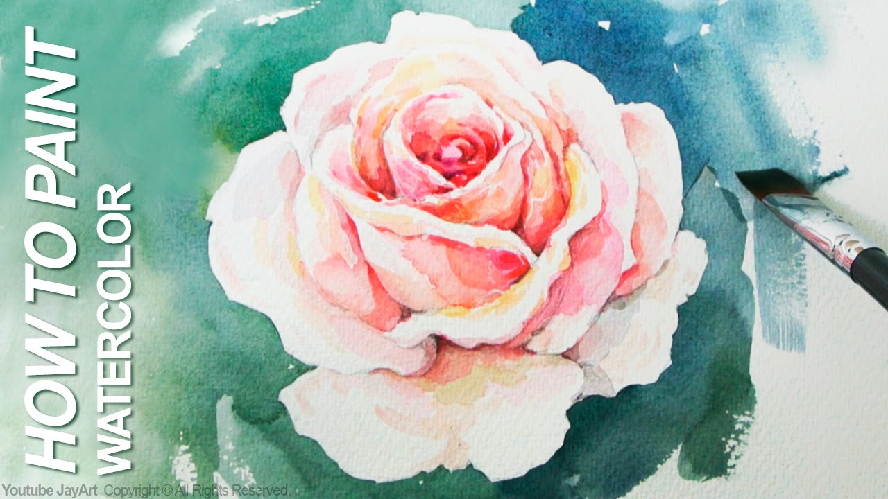 Watercolor step by step how to paint a rose youtube for How to paint a rose in watercolor step by step